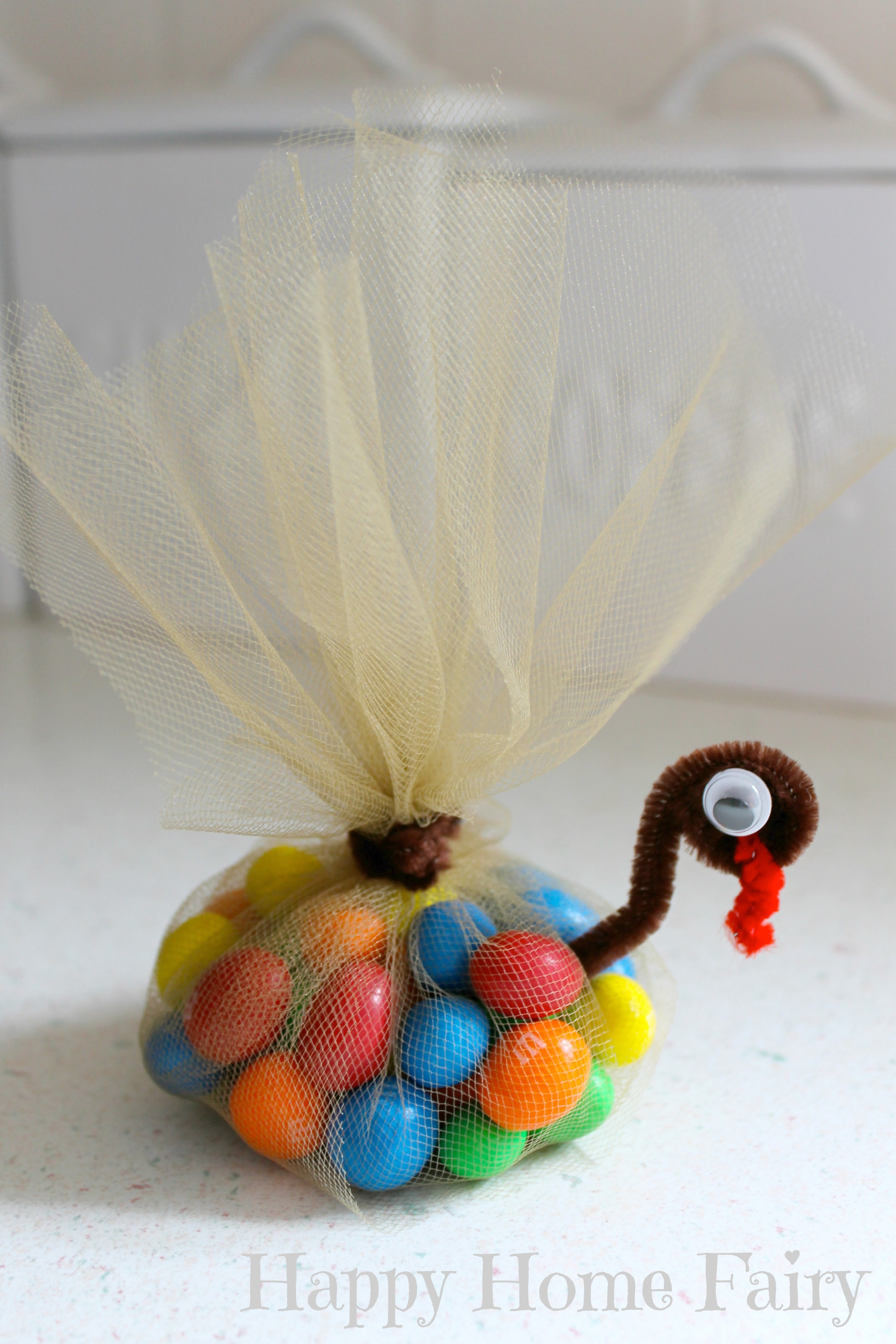 easy candy-filled turkey favors