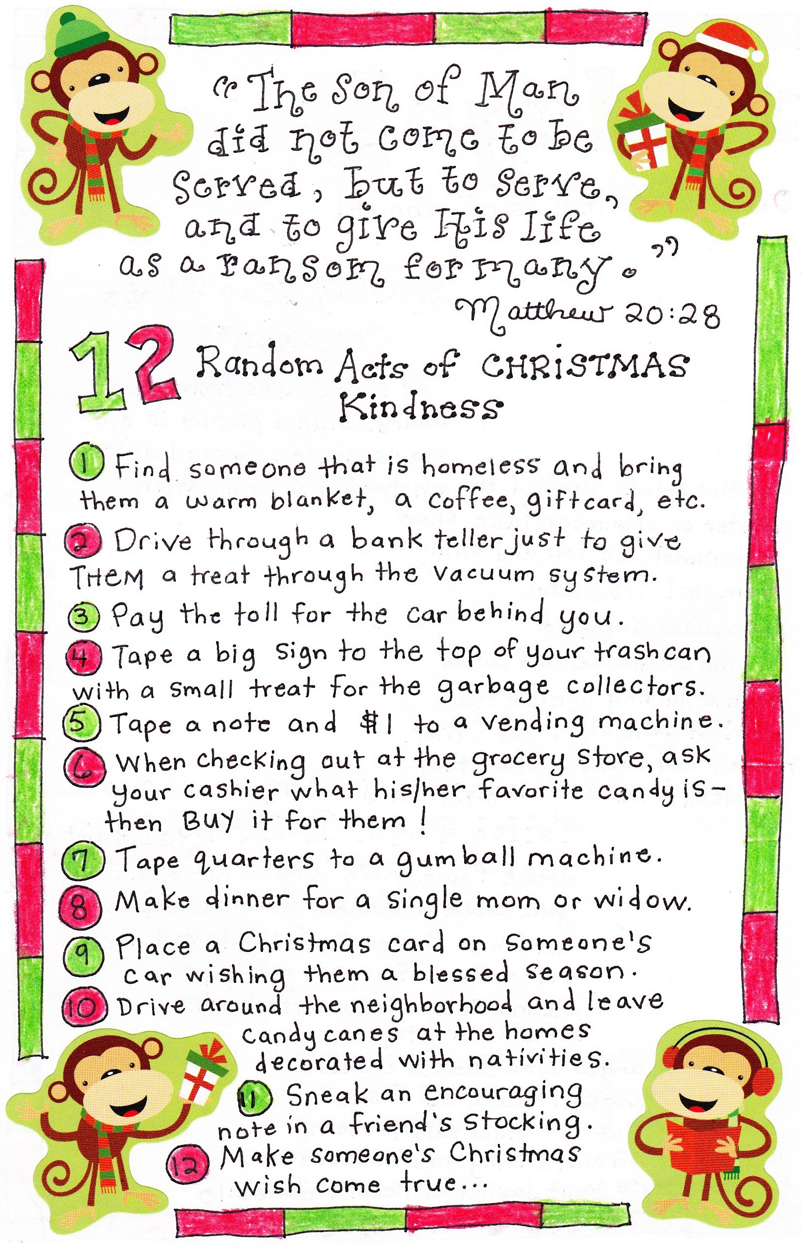 12 Days of Christmas Kindness - Happy Home Fairy
