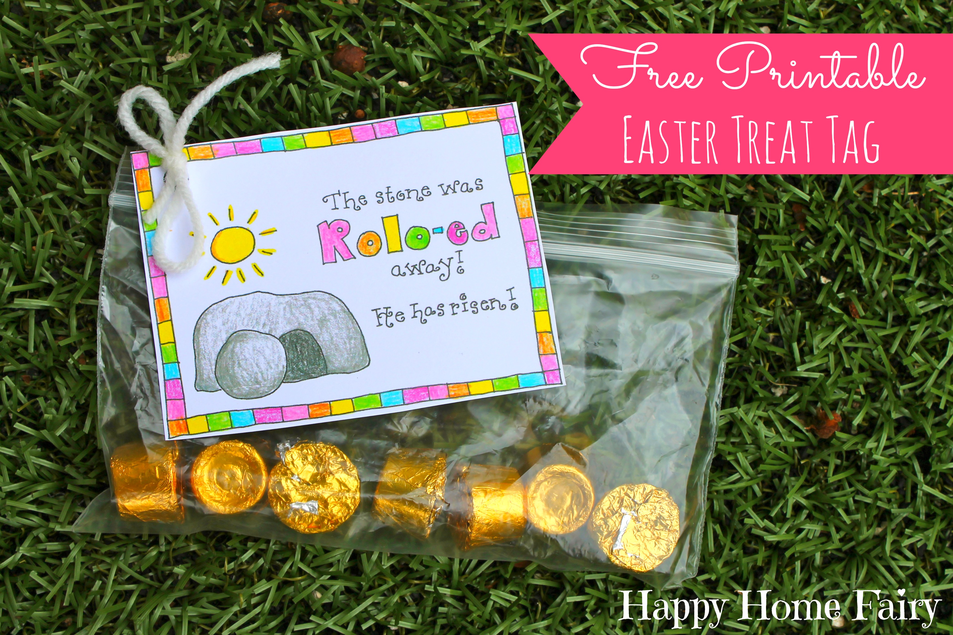 Free printable easter treat tag happy home fairy negle Image collections