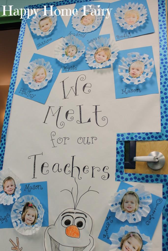 Adorable teacher appreciation door idea happy home fairy for Idea door primary 2014