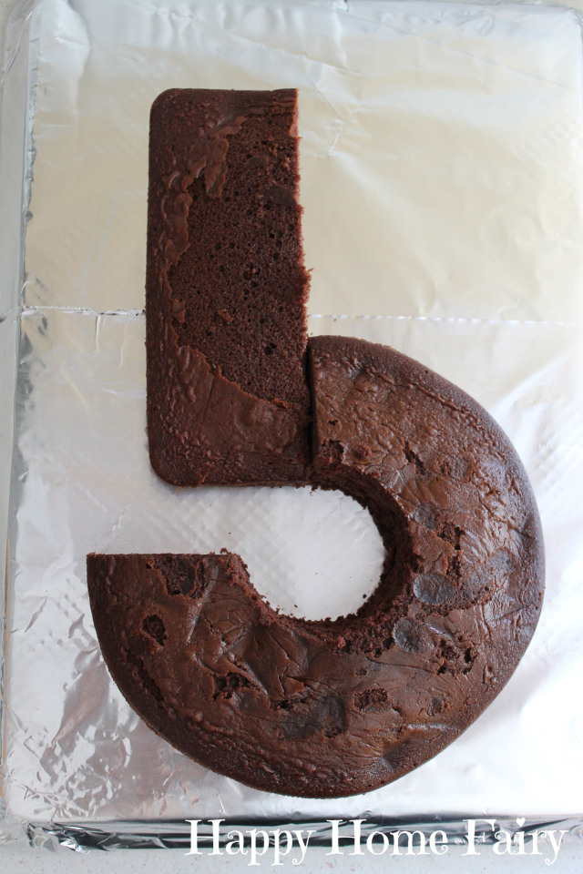 How To Make A Number 5 Cake Happy Home Fairy