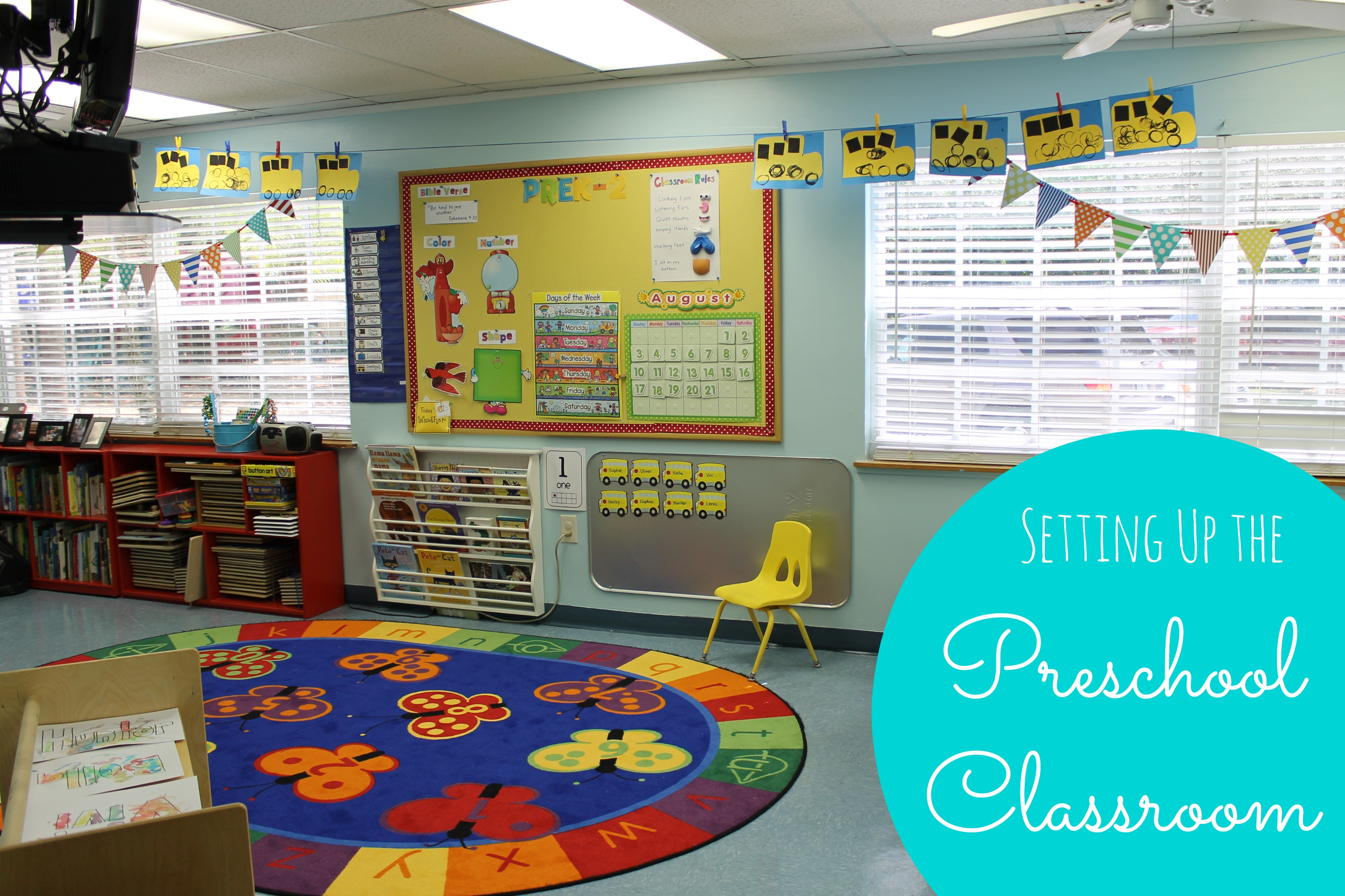 Classroom Board Ideas For Kindergarten ~ Preschool classroom reveal happy home fairy