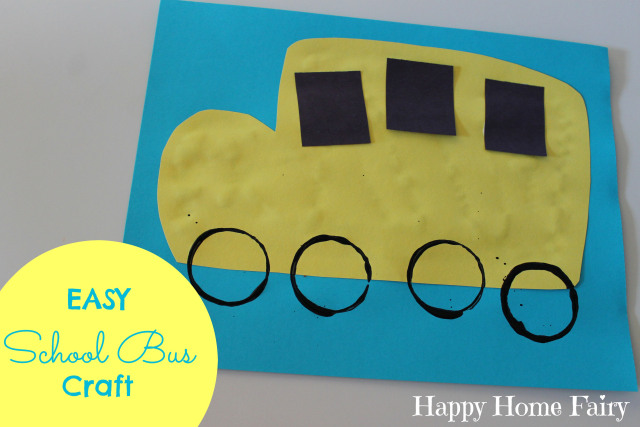 Easy School Bus Craft - Happy Home Fairy