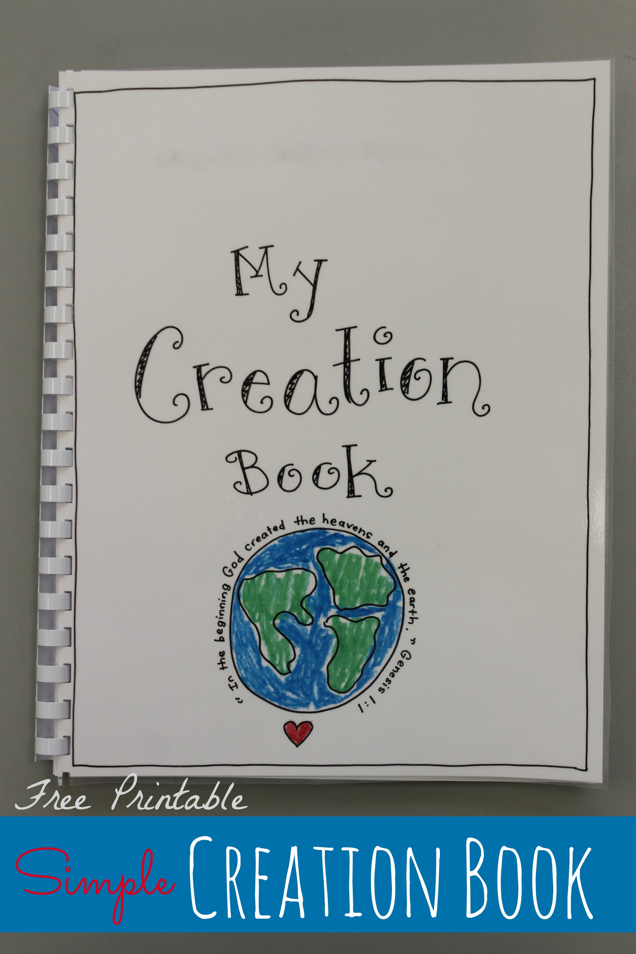 Creation Book Free Printable Happy Home Fairy