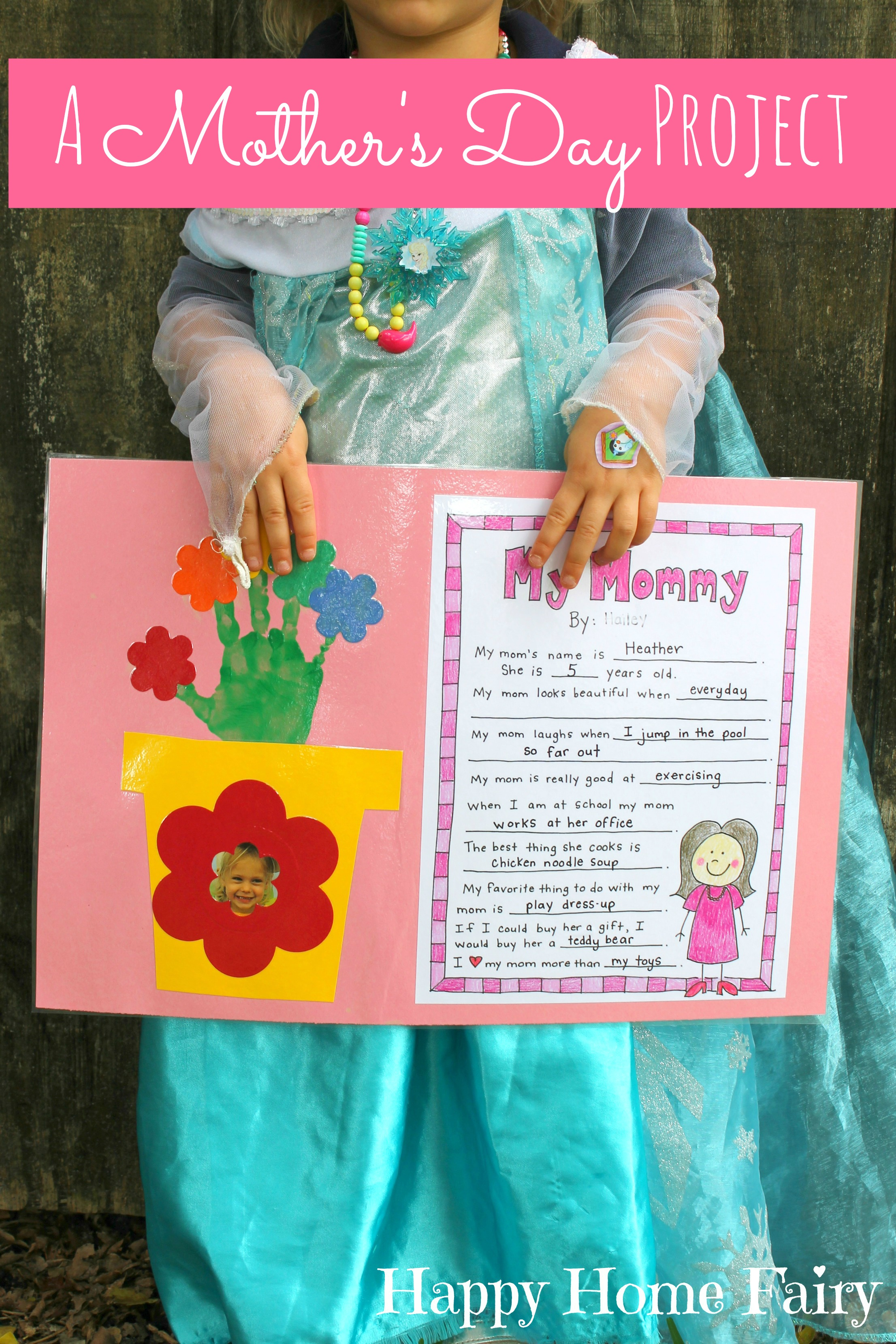 It is a photo of Impeccable Free Printable Mothers Day Crafts