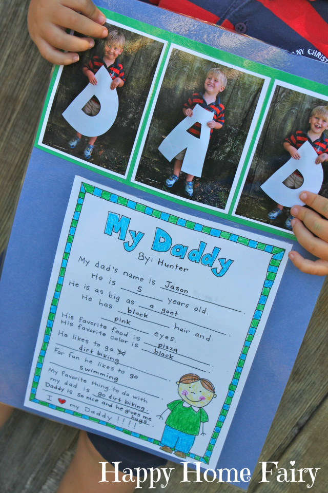 A Father's Day Project - FREE Printable - Happy Home Fairy