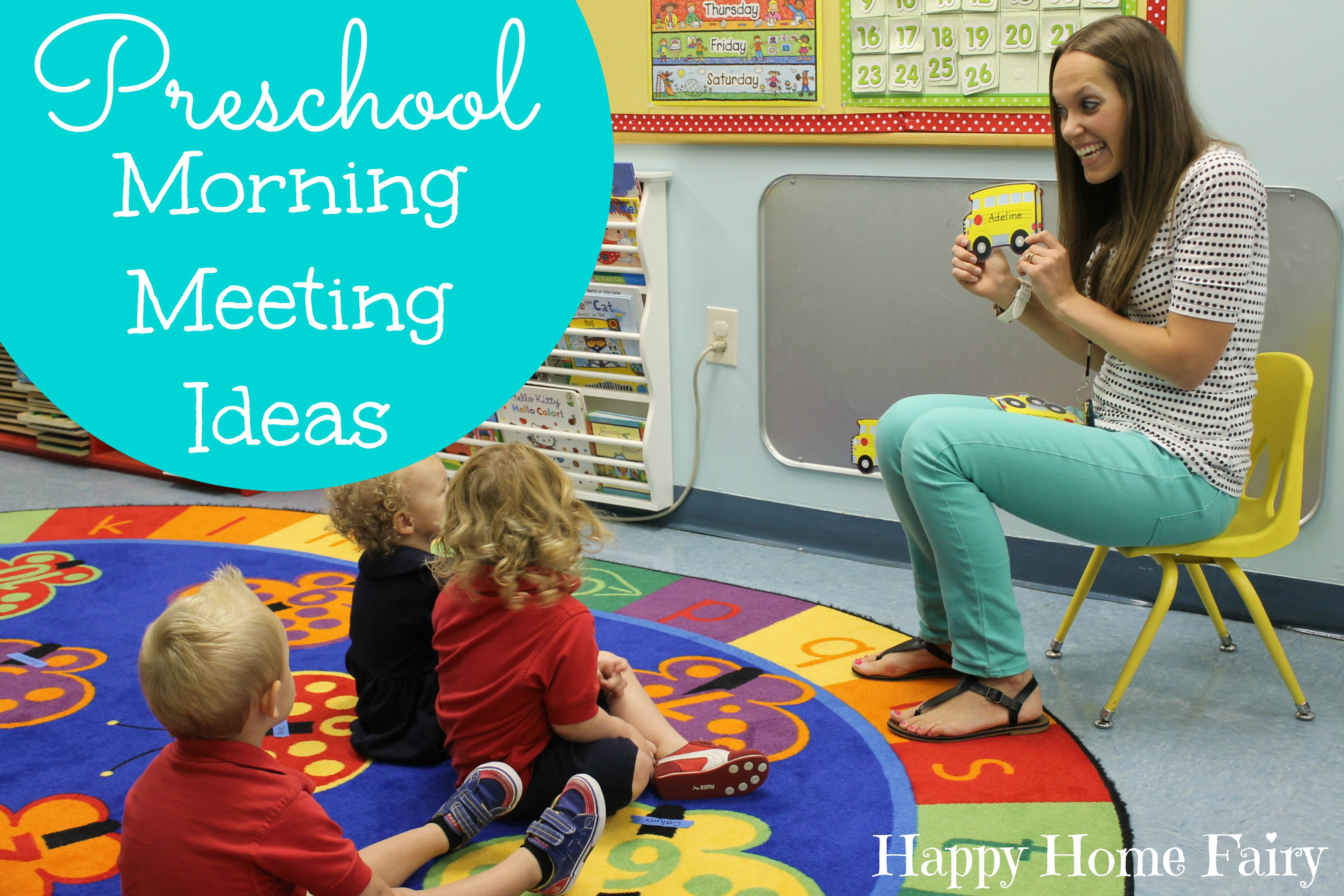 Classroom Ideas For 1 Year Olds ~ Preschool morning meeting ideas happy home fairy