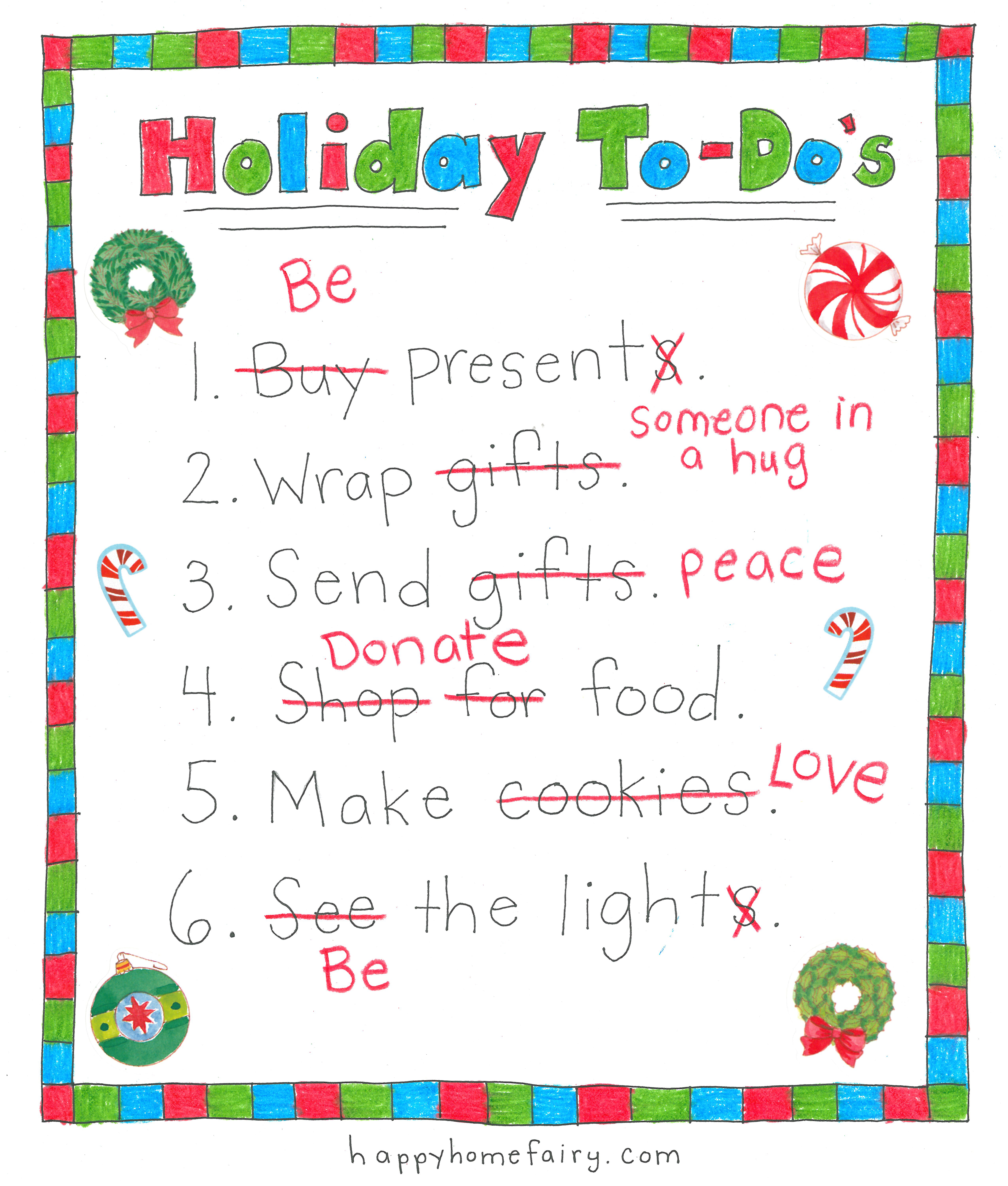 Your new holiday to do list free printable happy home for New home to do list