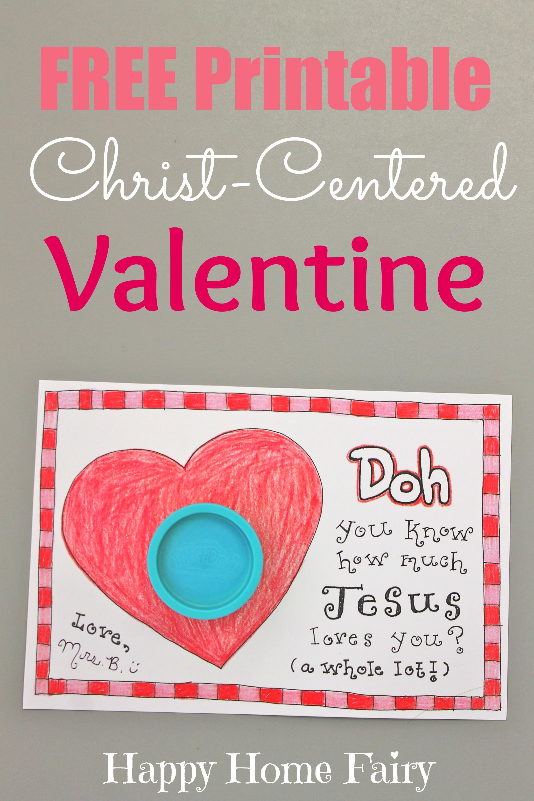 christ-centered valentine - free printable