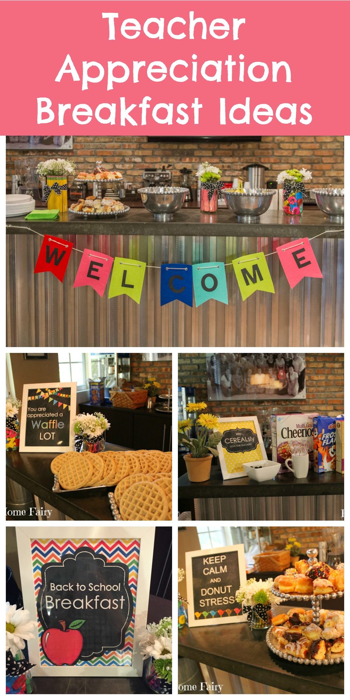 Classroom Recognition Ideas ~ Days of teacher appreciation breakfast ideas happy
