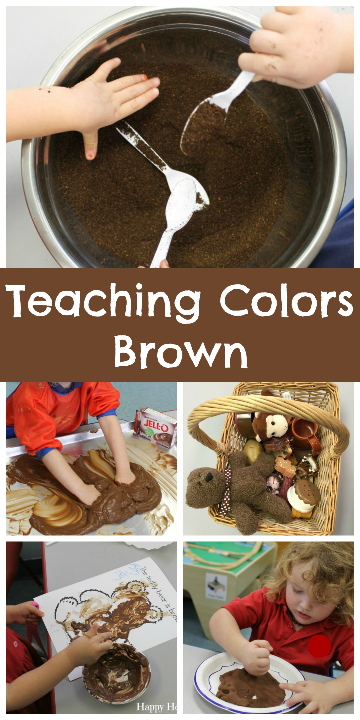 Teaching Colors Brown Happy Home Fairy