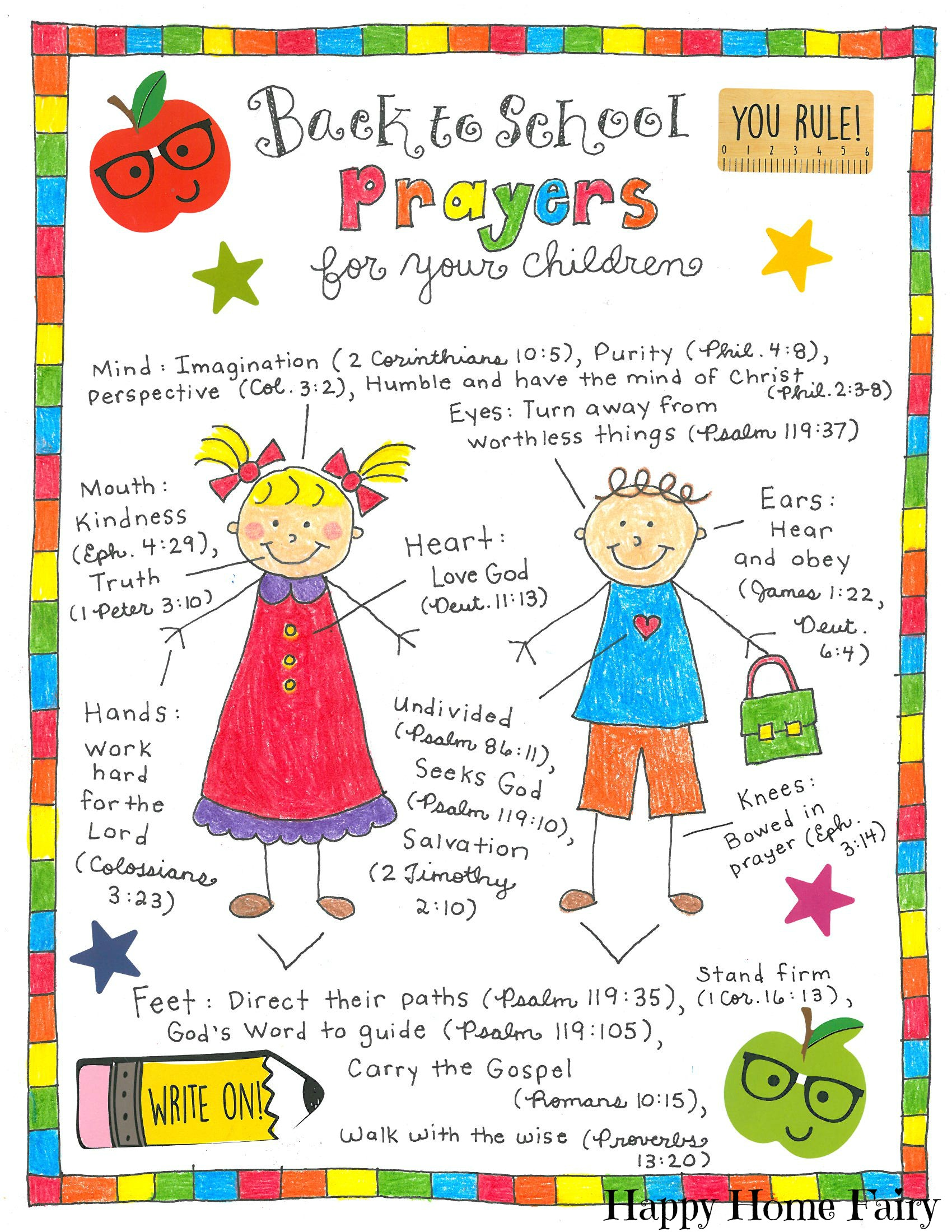 Back To School Prayers For Your Kids