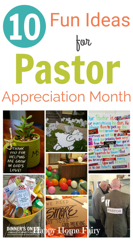 10 Fun Ideas for Pastor Appreciation Month - Happy Home Fairy