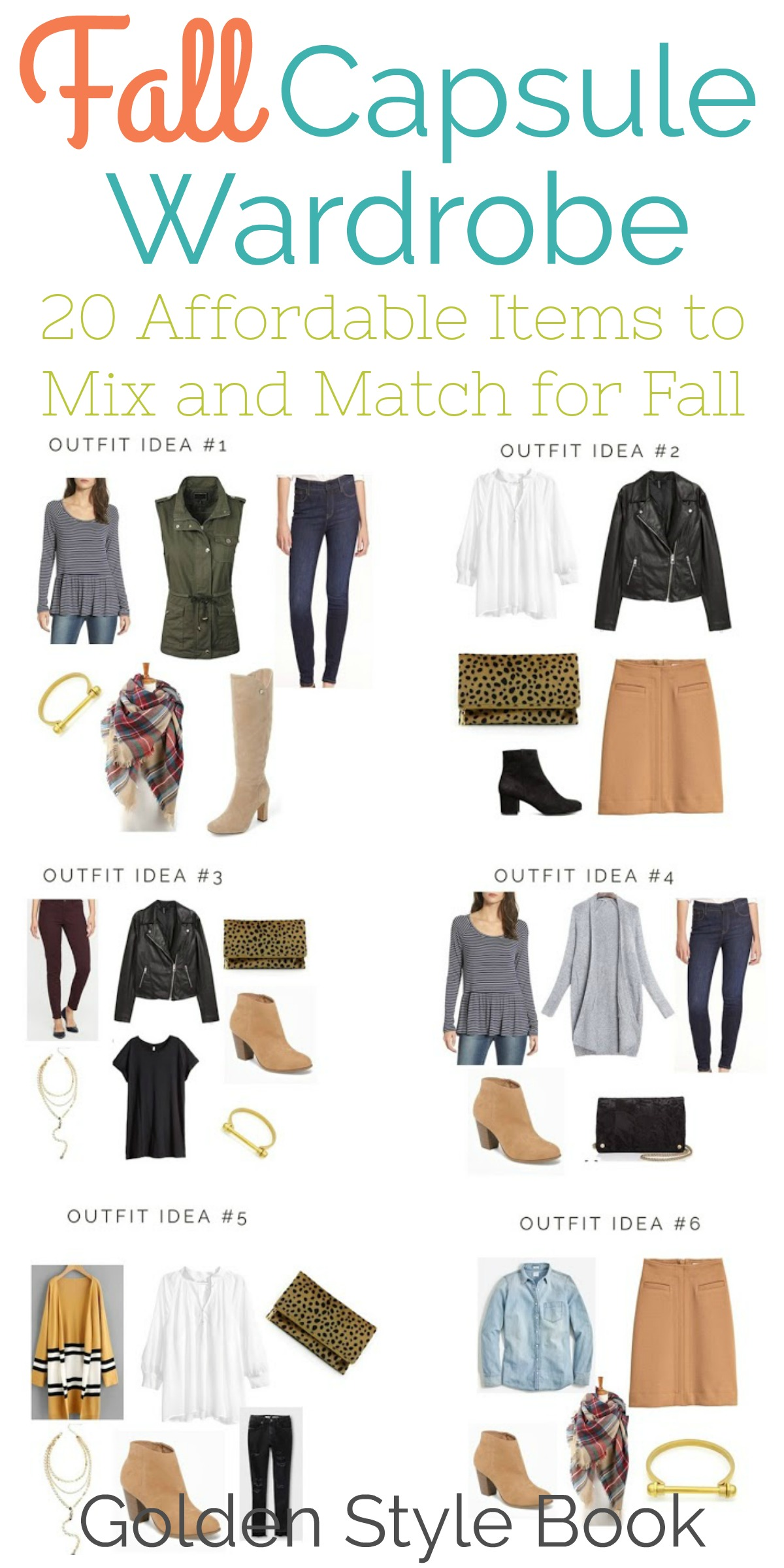Mix And Match Capsule Wardrobe For Fall